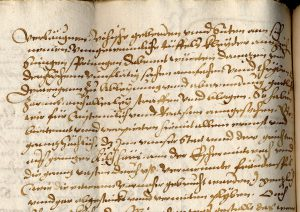 Mandat aus dem Jahr 1595