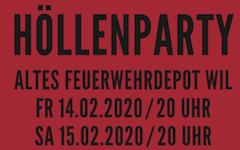 Höllenparty der Wiler Tüüfel zum 425 Jahre Jubiläum: 14./15. Februar 2020 im alten Feuerwehrdepot in Wil SG